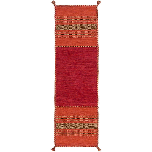 Surya TRZ-3002 Trenza Runner, 2'6' x 8', Burnt Orange/Dark Brown