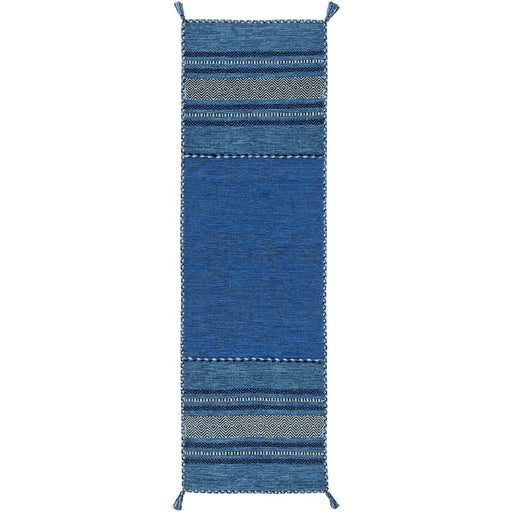 Surya TRZ-3003 Trenza Runner, 2'6' x 8', Black/Dark Blue