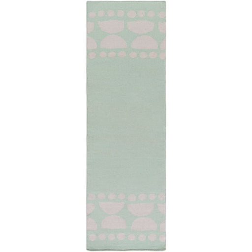 Surya TXT-3017 Textila Runner, 2'6' x 8', Sea Foam/Light Gray
