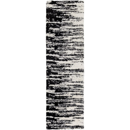 Surya WNF-1001 Winfield Runner, 7'10' x 10'2', Black/White