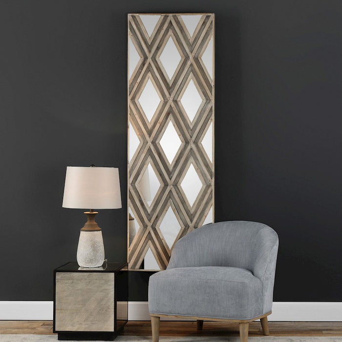 Uttermost Tahira Geometric Argyle Pattern Wall Mirror - 04116