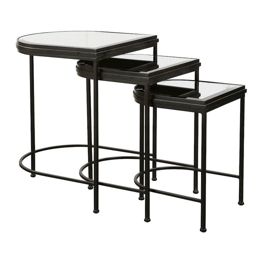 Uttermost India Black Nesting Tables, Set of 3 - 24965
