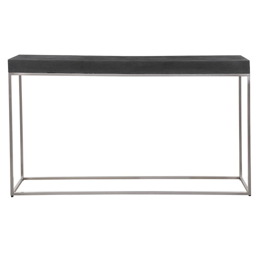 Uttermost Jase Black Concrete Console Table - 24974