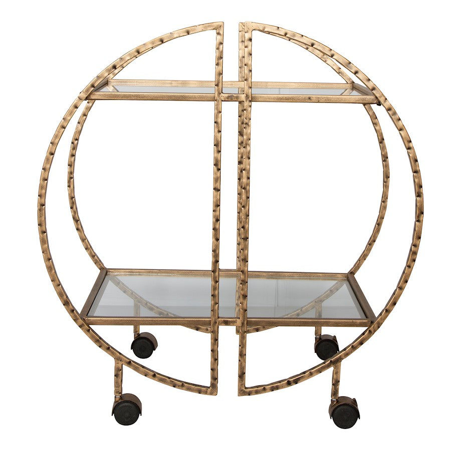 Uttermost Zelina Gold Bar Cart - 25065