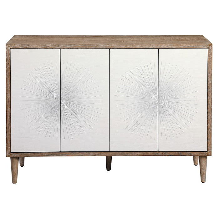 Uttermost Dani 4 Door White Cabinet - 25084
