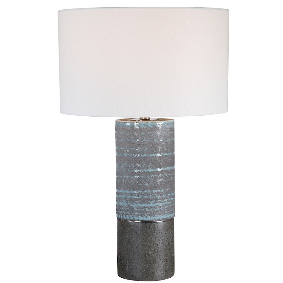Uttermost Prova Gray Textured Table Lamp - 28372