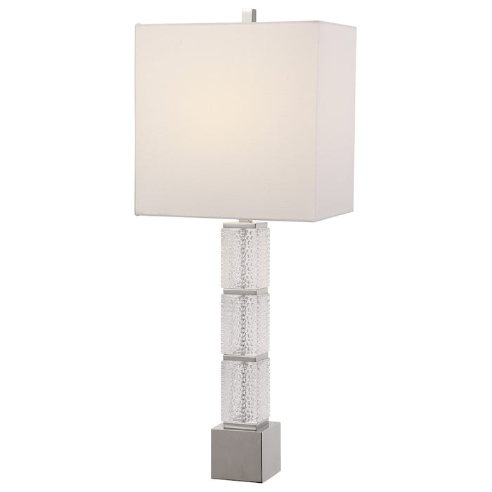 Uttermost Dunmore Glass Table Lamp, Polished Nickel - 28424-1