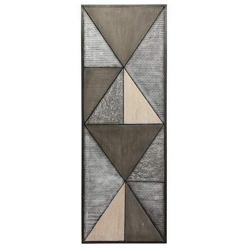 Uttermost Tribeca Modern Wall Panel, White-washed, Distressed Silver - 4275