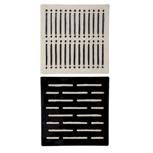 Uttermost Domino Effect Modern Wall Decor, Set of 2, Matte Ivory/Black - 4278