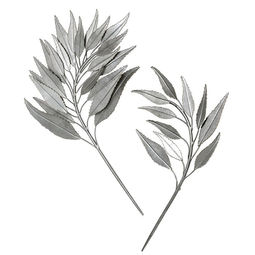 Uttermost Palm Branches Metal Wall Decor, Set of 2, Silver Leaf - 4283