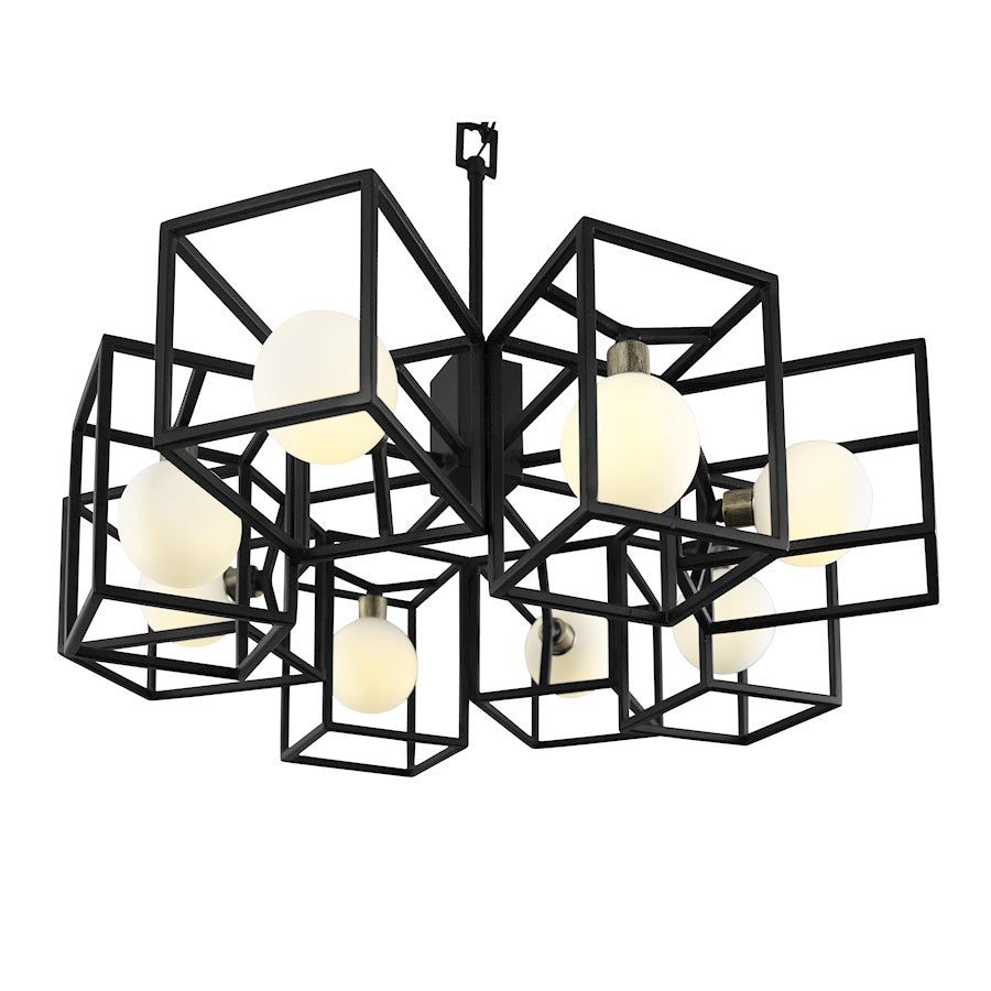 Varaluz Plaza 8-Light Pendant, Carbon/Havana Gold - 325C08CBHG