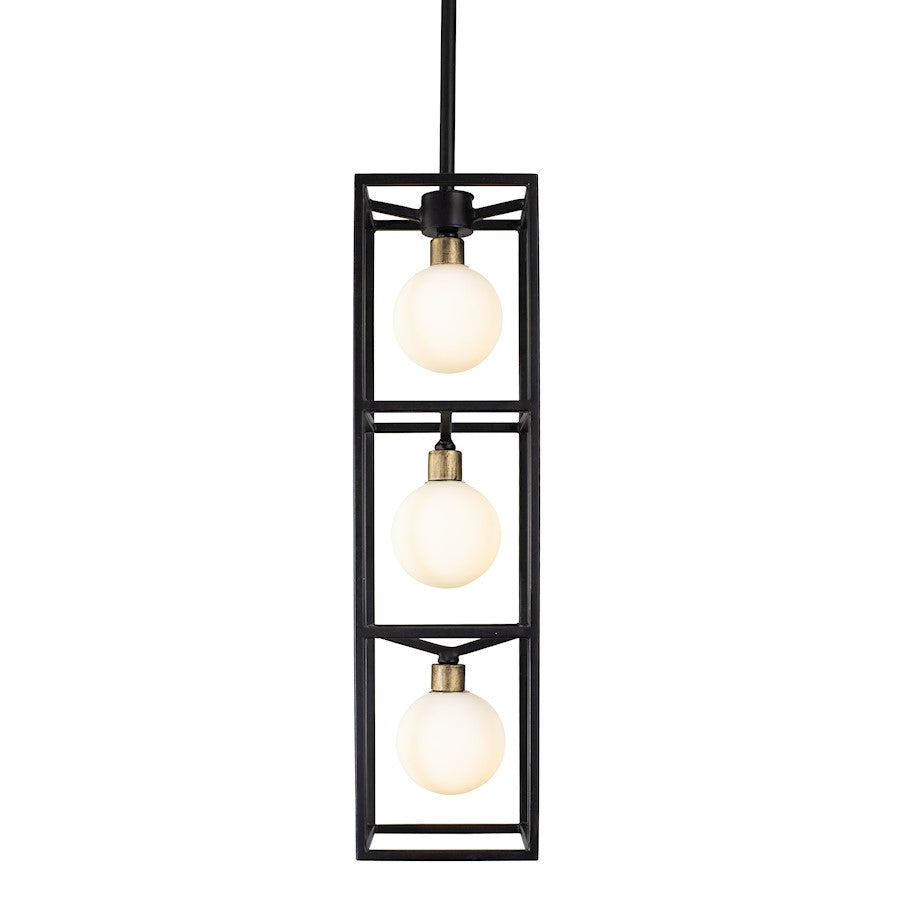 Varaluz Plaza 3-Light Foyer, Carbon/Havana Gold - 325F03CBHG