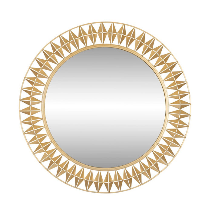Varaluz Forever Round Mirror, French Gold - 342A01FG