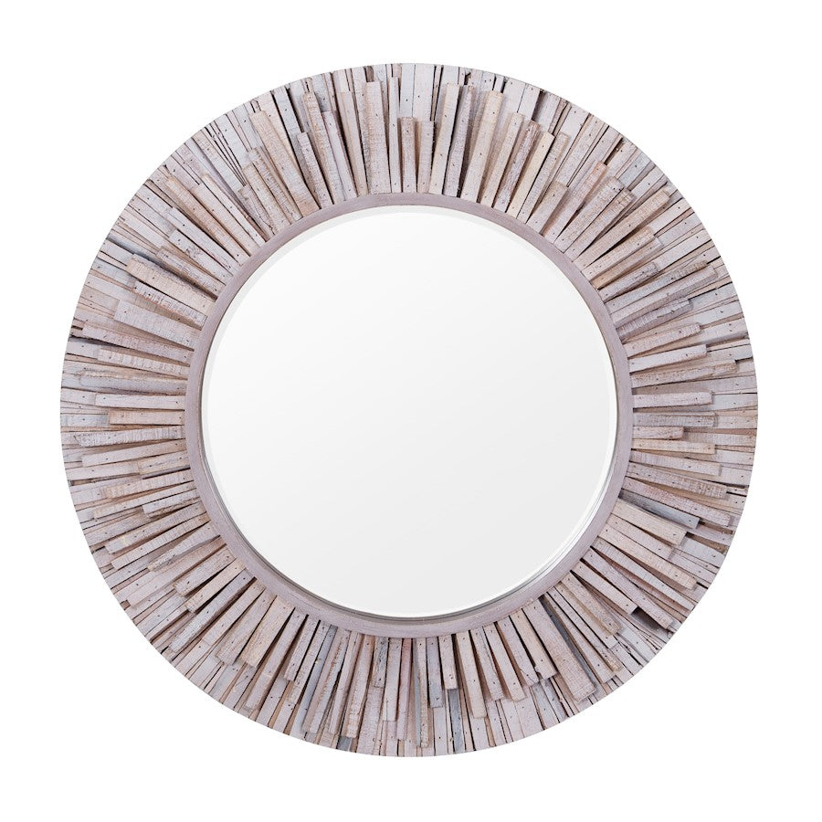 Varaluz Nellie Circular Wood Mirror, Coastal Wash - 4DMI0128
