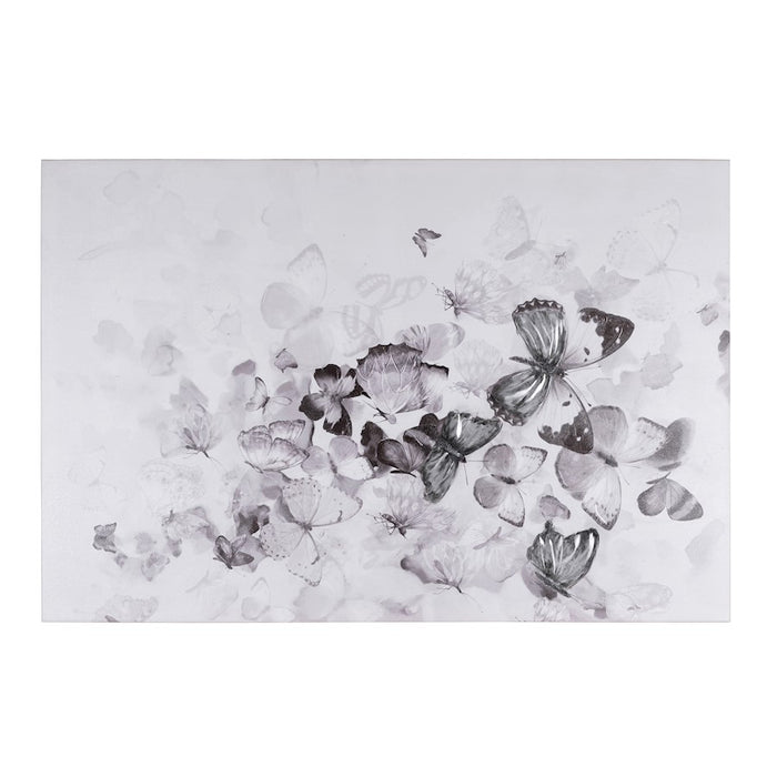 Varaluz Kaleidoscope Mixed-Media Butterfly Art, Black and White - 4DWA0118