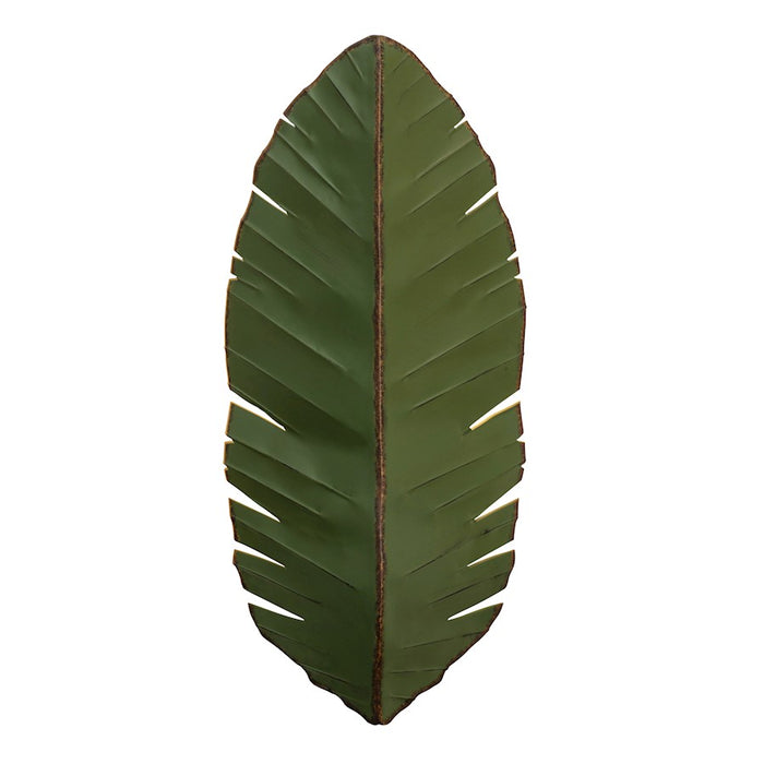 Varaluz Banana Leaf 3 Light Tall Sconce, Natural Green - 901K03