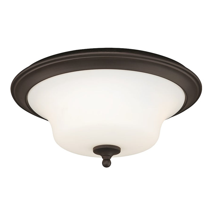 "Vaxcel Cordoba 2 Light 14"" Flush Mount Ceiling Light, Bronze - C0055"