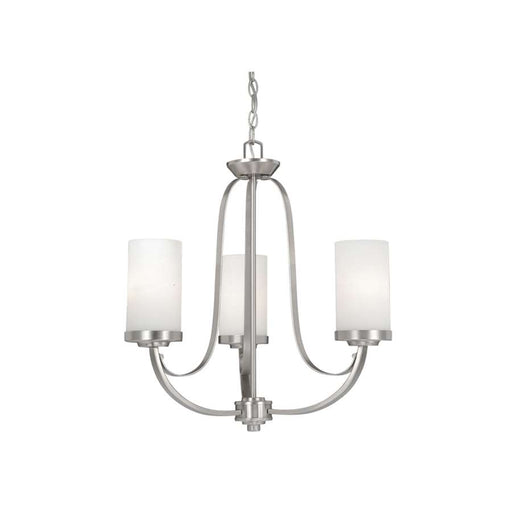 Vaxcel Oxford Chandelier, Brushed Nickel