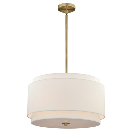 Vaxcel Burnaby 4 Light Pendant, Matte Brass