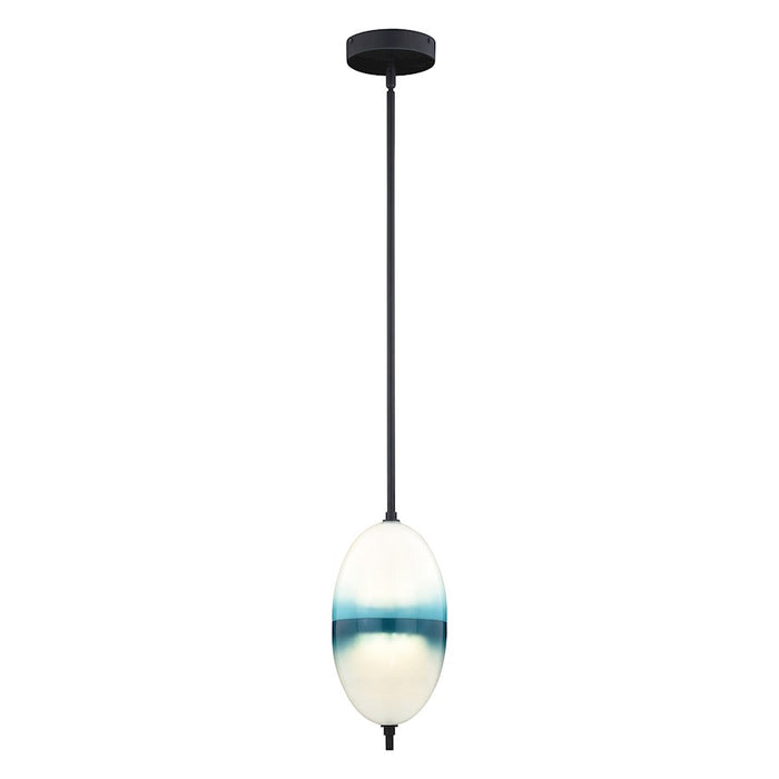 "Vaxcel Somerset 1 Light 6"" LED Mini Pendant, Bronze - P0319"