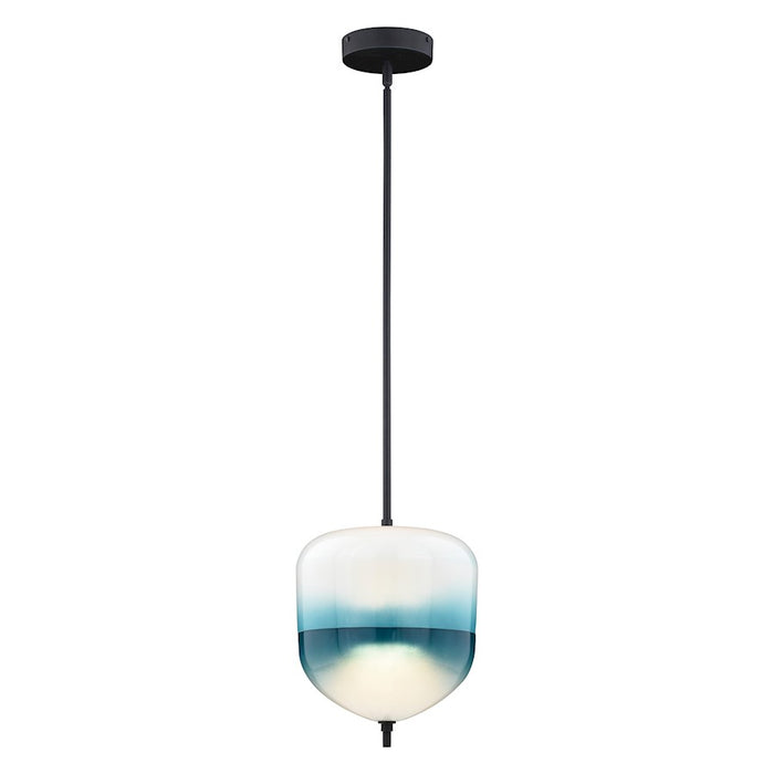"Vaxcel Somerset 1 Light 9.5"" LED Mini Pendant, Bronze - P0320"