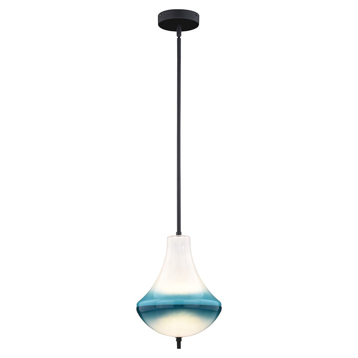 "Vaxcel Somerset 1 Light 10"" LED Mini Pendant, Bronze - P0321"