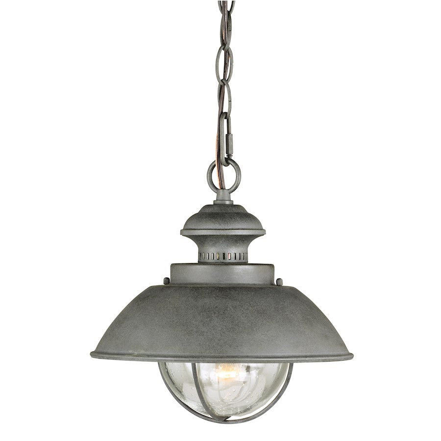 Vaxcel Harwich 1 Light Outdoor Pendant, Textured Gray