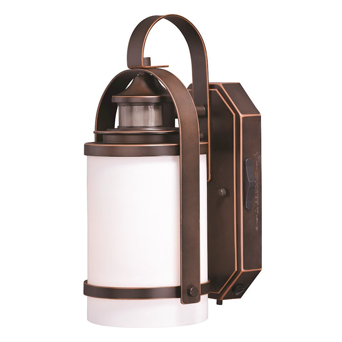 "Vaxcel Weston Dualux 6.5"" Outdoor Wall Light, Burnished Bronze"