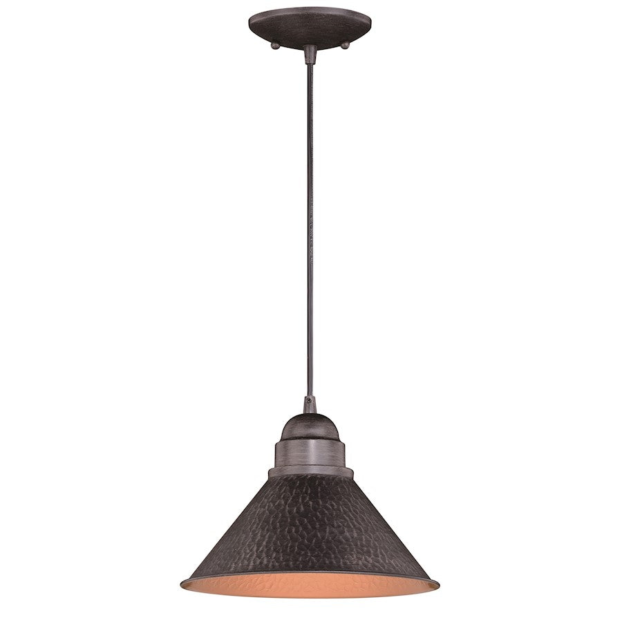"Vaxcel Outland 10"" Outdoor Pendant, Light, Iron/Light Gold"