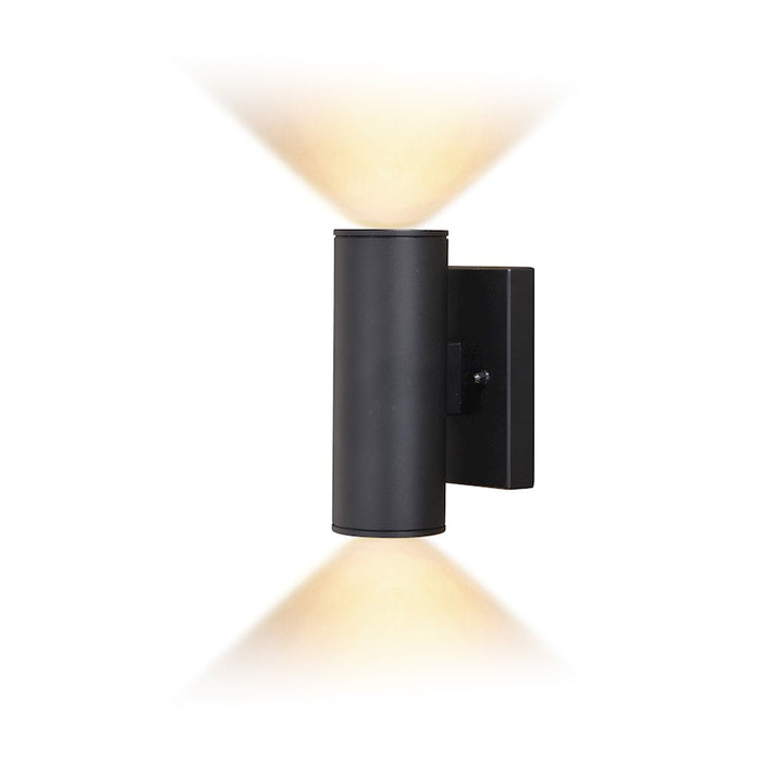 "Vaxcel Chiasso 2 Light 8"" LED Outdoor Wall Light, Black - T0551"