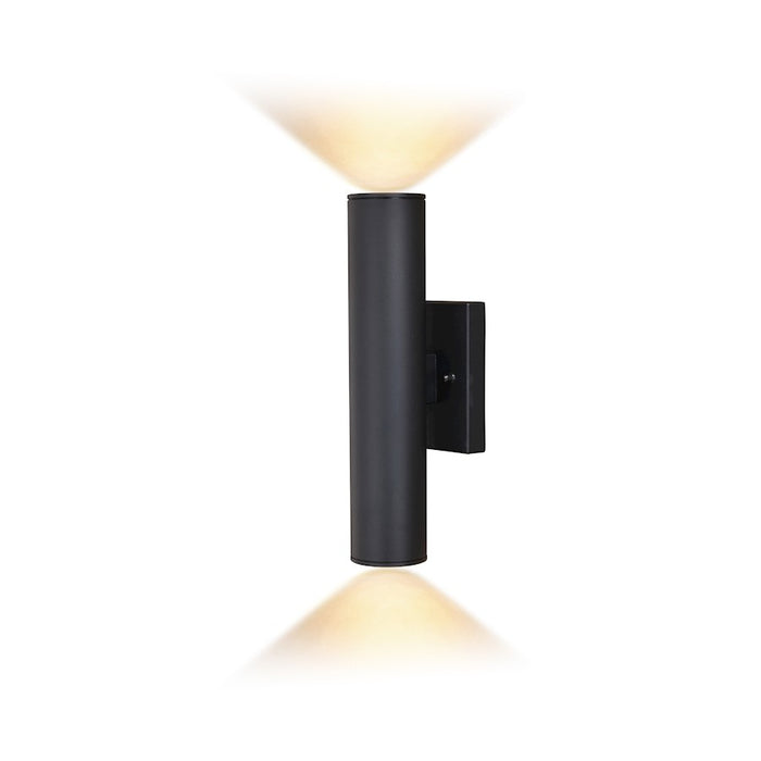"Vaxcel Chiasso 2 Light 14"" LED Outdoor Wall Light, Black - T0552"