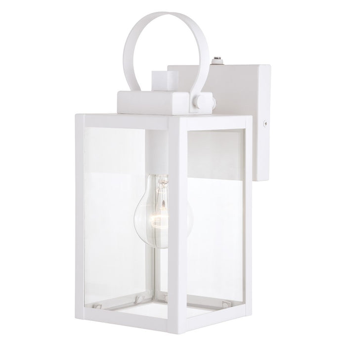 "Vaxcel Medinah 1 Light 5"" Outdoor Wall Light, White - T0553"