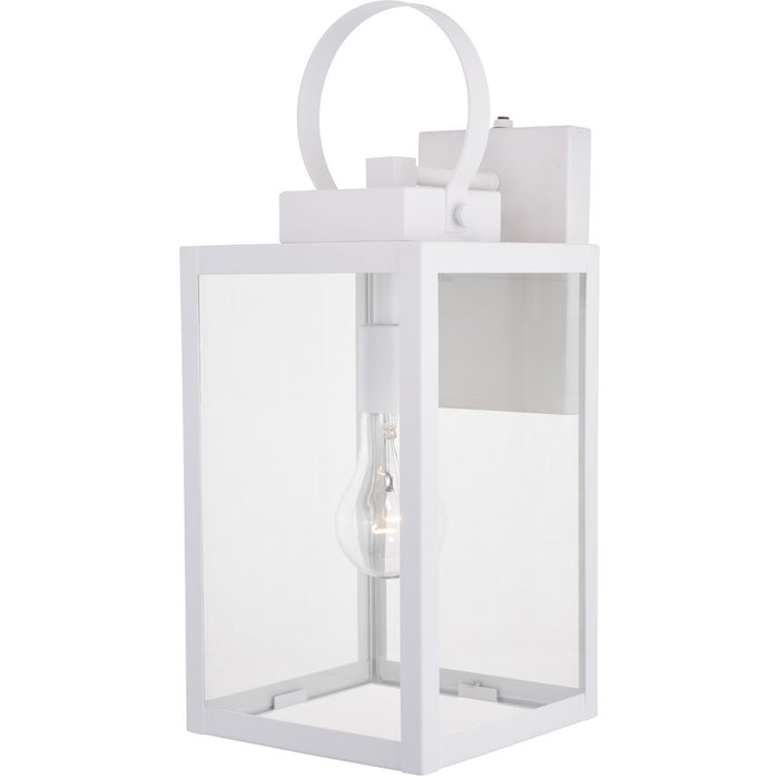 "Vaxcel Medinah 1 Light 7"" Outdoor Wall Light, White - T0554"