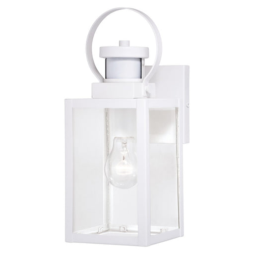 "Vaxcel Medinah Dualux 1 Light 5"" Outdoor Motion Sensor Wall Light, White - T0568"