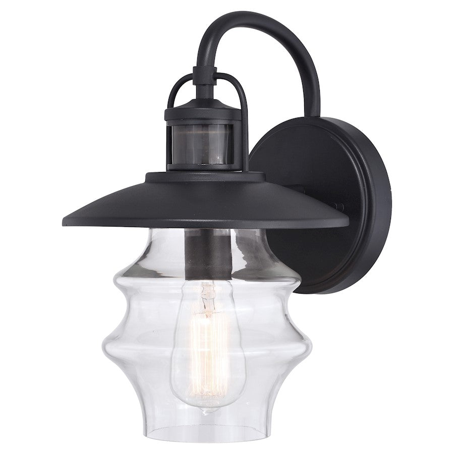 "Vaxcel Glenn Dualux 1 Light 9"" Outdoor Wall Light, Black - T0569"