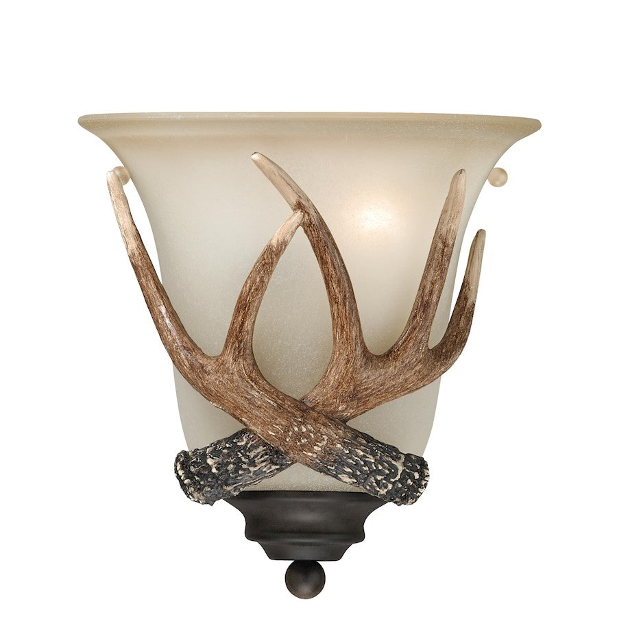 Vaxcel Yoho 1 Light Wall Sconce, Black Walnut