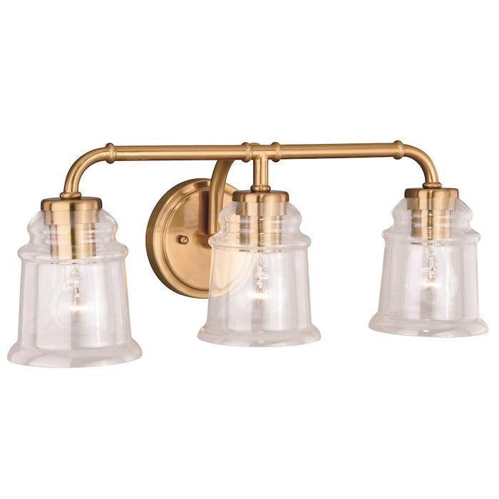 Vaxcel Toledo Bathroom Vanity Lighting, Natural Brass