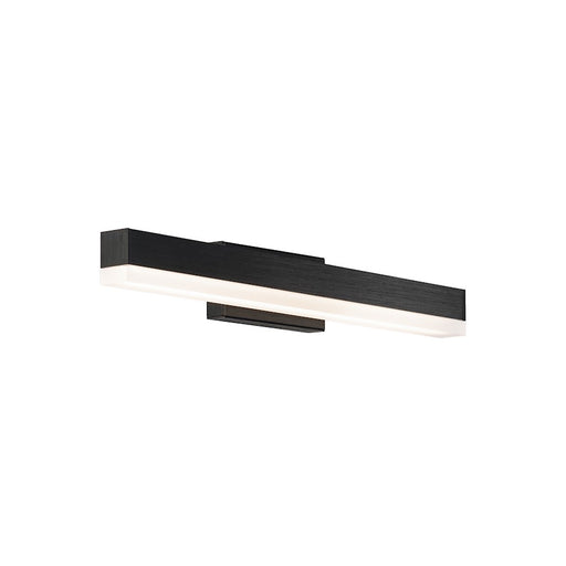 "dweLED Styx 19"" LED 1 Light Wall Light 3-CCT 3000K, Black/Clear - WS-41119-BK"
