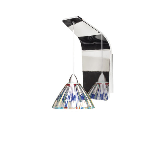 WAC Lighting Eden Pendant Wall Sconce, Dichroic Glass/Chrome