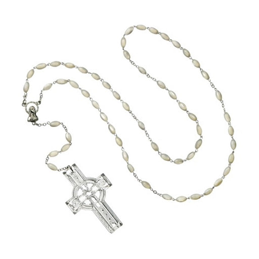 Waterford Celtic Rosary Beads with Crystal Cross