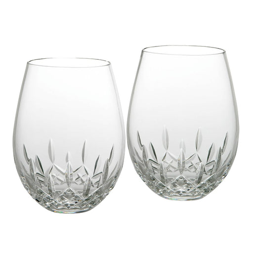 Waterford Lismore Nouveau Stemless Deep Red Wine in Pair