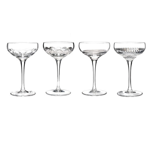 Waterford Mixology Assorted Clear Champagne Coupe in Set of 4