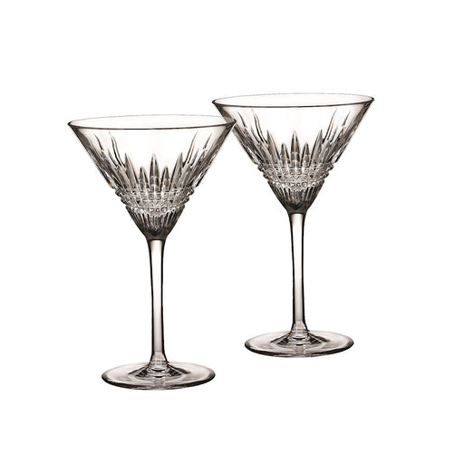 Waterford Lismore Diamond Martini in Pair