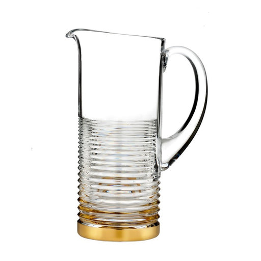 Waterford Circon Pitcher With Gold Band