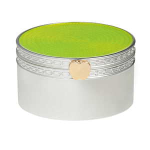 Vera Wang Wedgwood Treasures With Love Lime Green Apple Treasure Box