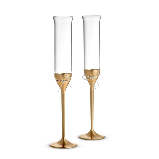 Vera Wang Wedgwood Love Knots Gold Toasting Flute in Pair