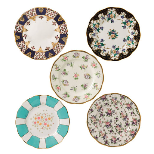 Royal Albert 100 Years of 1900-1940 5-Piece Plate Set
