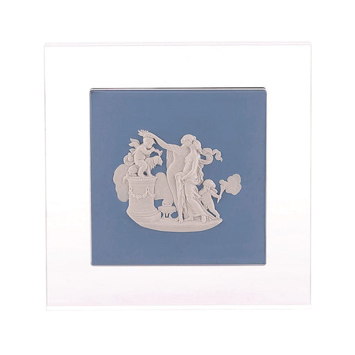 "Wedgwood Heritage The Lovers Plaque Pale Blue 9.4X9.4"" Ltd 30"