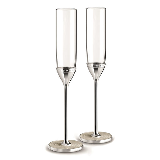 Vera Wang Wedgwood With Love Nouveau Pearl Toasting Flute in Pair