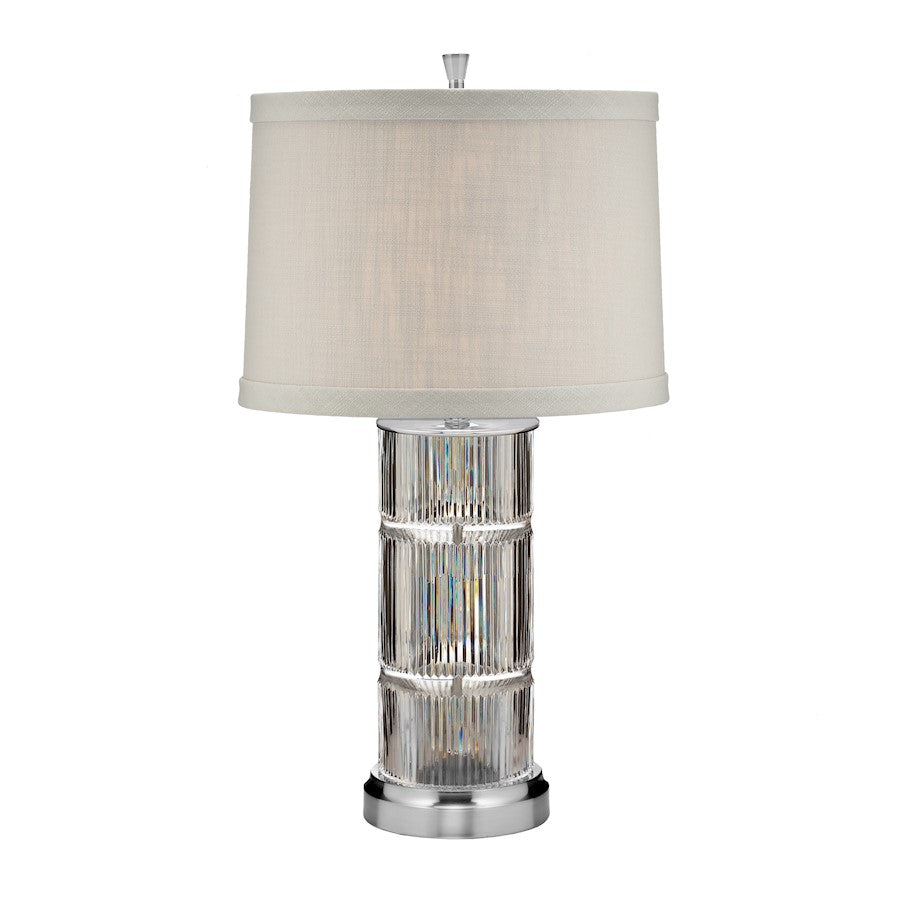 "Waterford Linear Table Lamp 26"" Sat in Nickel"